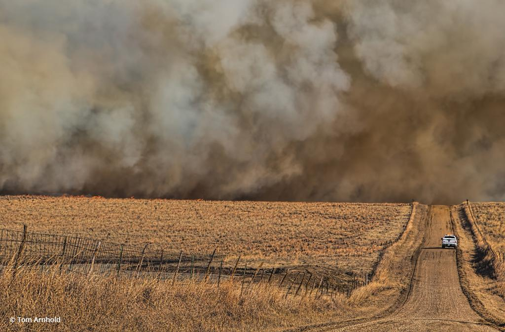 "Today's Photo Of The Day is ""Prairie Fire Out Of Control"" by Tom Arnhold. Location: Western Kansas."