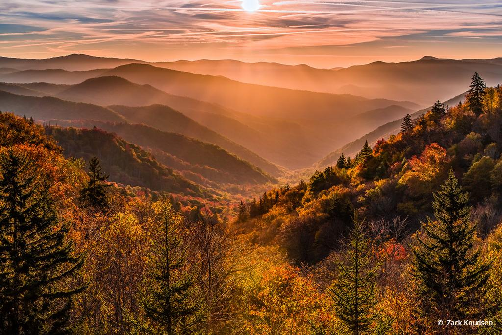 """Today's Photo Of The Day is """"Gold in the Valley"""" by Zack Knudsen. Location: Great Smoky Mountains National Park, North Carolina."""