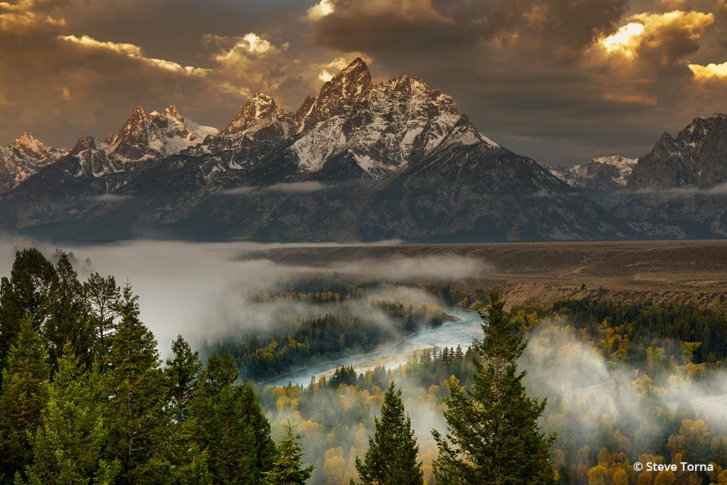 "Today's Photo Of The Day is ""Morning Majesty"" by Steve Torna. Location: Snake River Overlook, Grand Teton National Park, Wyoming."