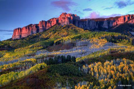 "Today's Photo Of The Day is ""The Glow of Fall"" by Wendy Gedack. Location: Uncompahgre National Forest, Colorado."
