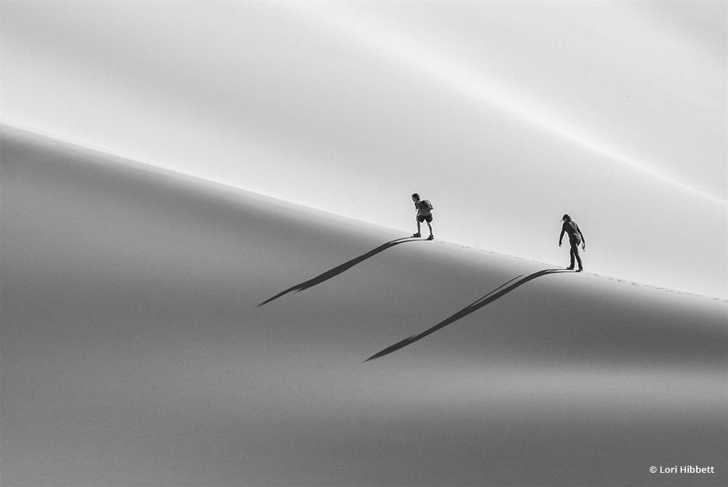 "Today's Photo Of The Day is ""Climbing the Dunes"" by Lori Hibbett. Location: Death Valley National Park, California."
