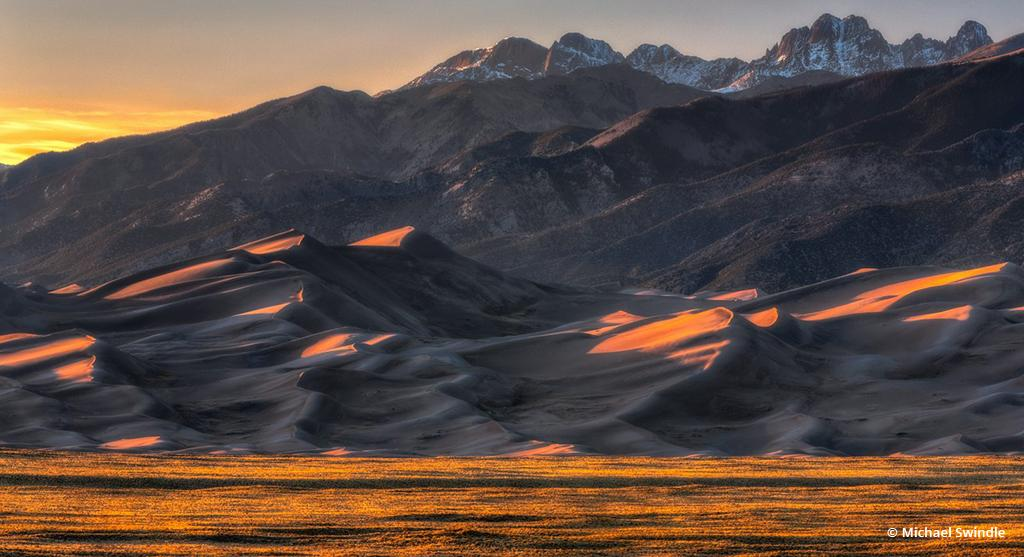 "Today's Photo Of The Day is ""Sand Dune Sunset"" by Michael Swindle. Location: Great Sand Dunes National Park, Colorado."