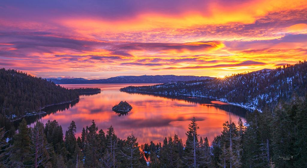 "Today's Photo Of The Day is ""Explosion of Colors"" by Sayan Ghosh. Location: Lake Tahoe, California."