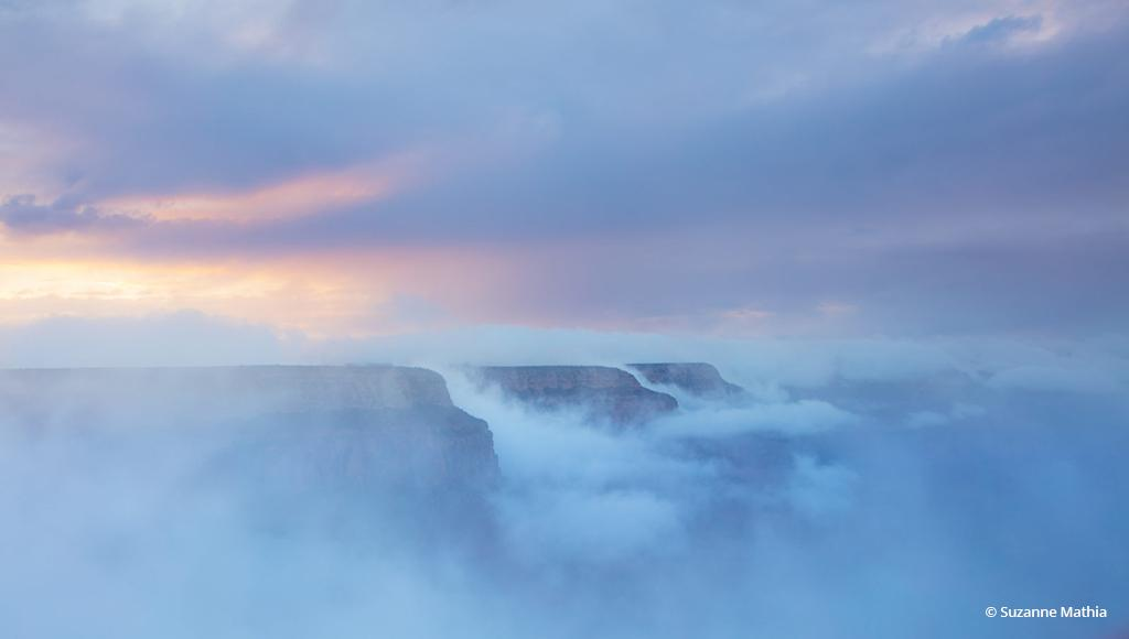 "Today's Photo Of The Day is ""Pastel Panorama"" by Suzanne Mathia. Location: Grand Canyon National Park, Arizona."