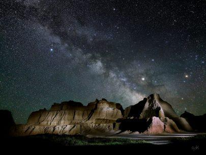 "Today's Photo Of The Day is ""Badlands Night"" by Craig Stocks. Location: Badlands National Park, South Dakota."