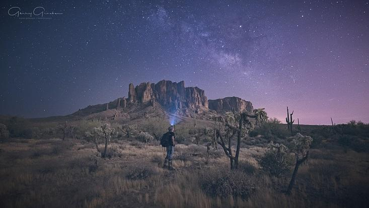 "Today's Photo Of The Day is ""Alone"" by Gerry Groeber. Location: Superstition Mountains, Arizona."