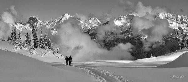 """Today's Photo Of The Day is """"First Snow Walk"""" by North Cascades National Park, Washington."""