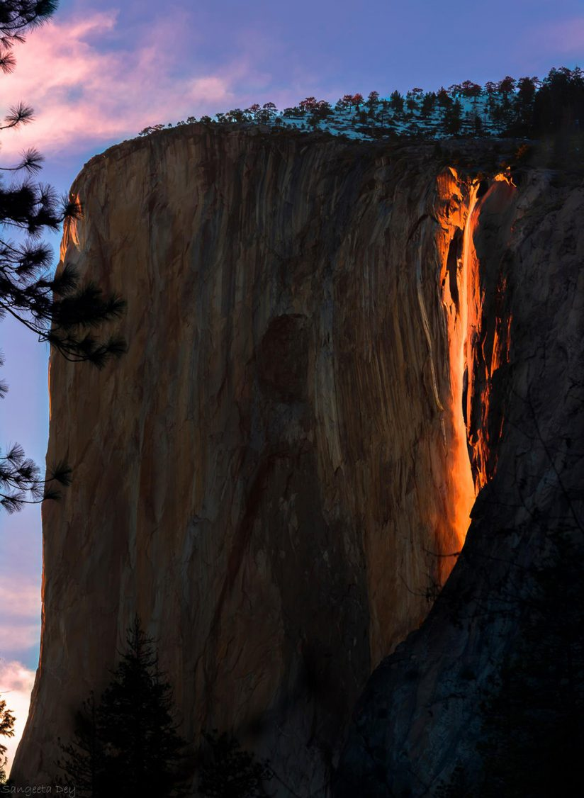 "Today's Photo Of The Day is ""The Firefall"" by Sangeeta Dey. Location: Yosemite National Park, California."