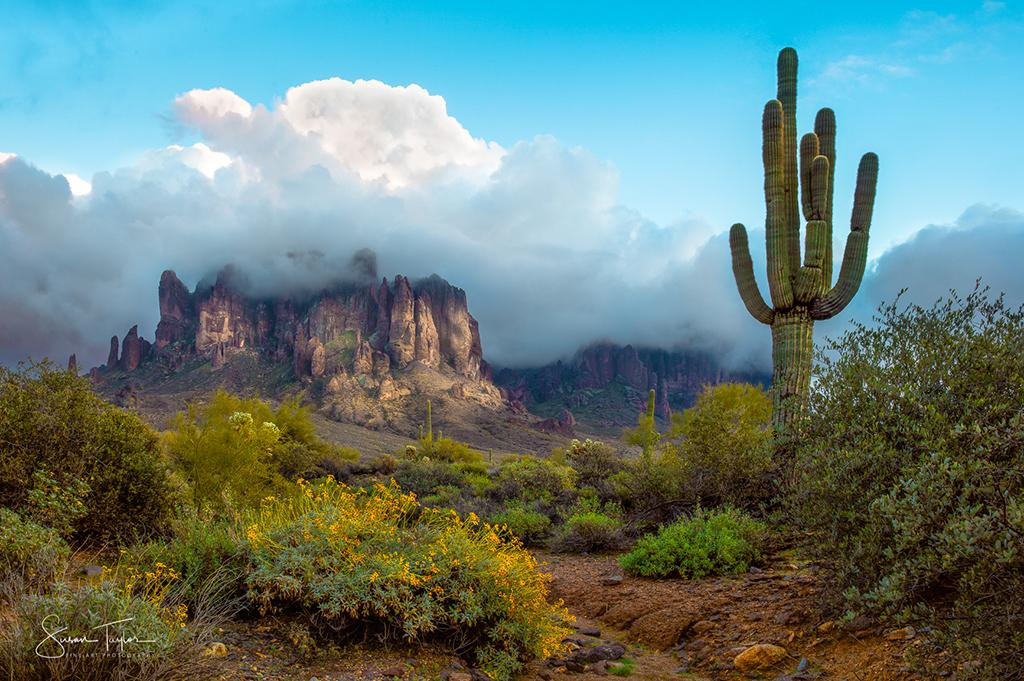 "Today's Photo Of The Day is ""Storm Clearing Over the Superstition Mountains"" by Susan Taylor. Location: Lost Dutchman State Park, Arizona."