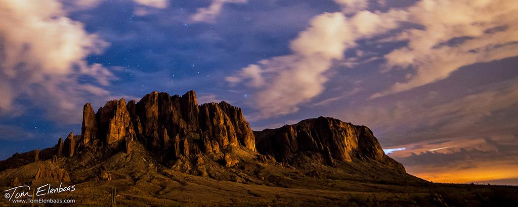 "Today's Photo Of The Day is ""Superstition Mountains Twilight"" by Tom Elenbaas. Location: Near Phoenix, Arizona."