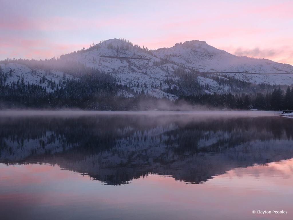 "Today's Photo Of The Day is ""Fog on Donner Lake"" by Clayton Peoples. Location: Donner Lake, California."