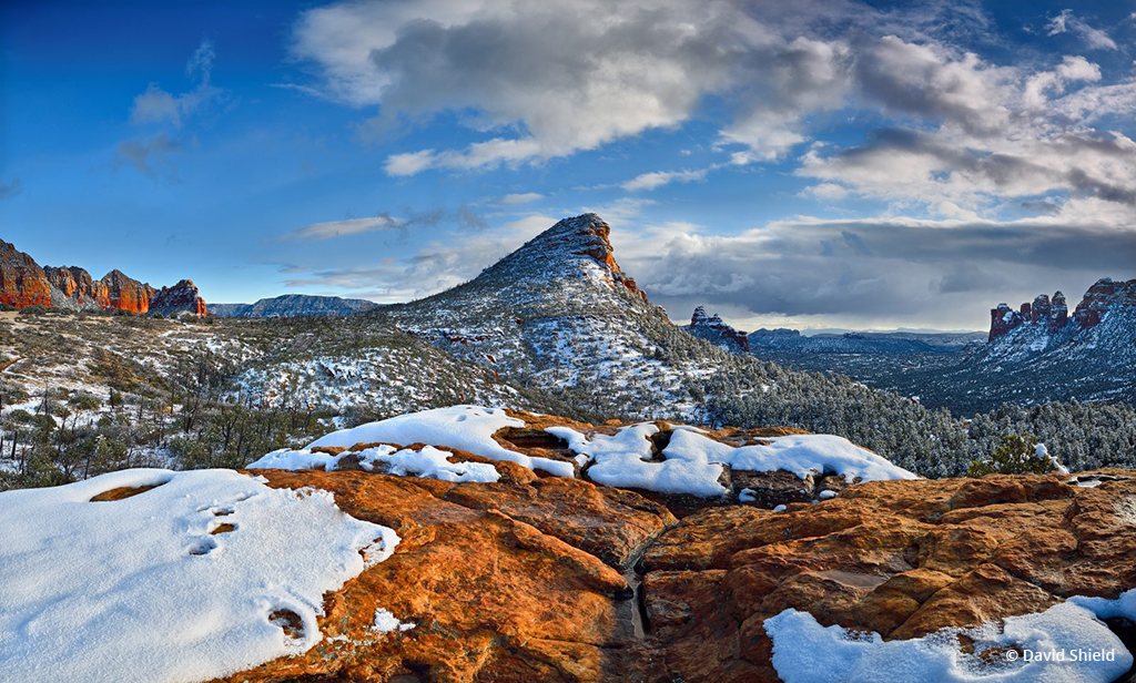 """Today's Photo Of The Day is """"The Fin Red Rock Winter"""" by David Shield. Location: Red Rock-Secret Mountain Wilderness, Arizona."""