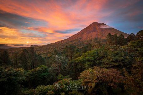 "Today's Photo Of The Day is ""Sunset at Arenal"" by Brian Jarvis. Location: La Fortuna, Costa Rica."