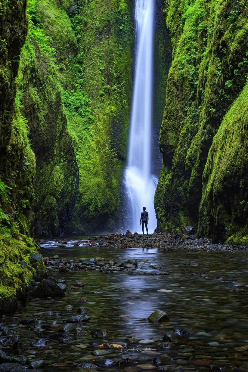 "Today's Photo Of The Day is ""The Encounter"" by Erick Castellon. Location: Oneonta Gorge, Oregon."