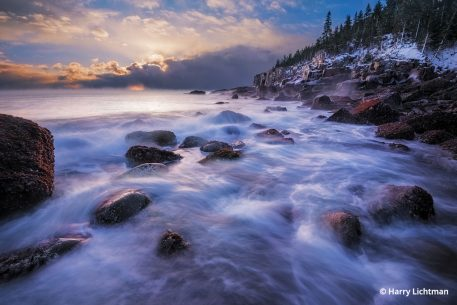 Boulder Beach in Acadia National Park