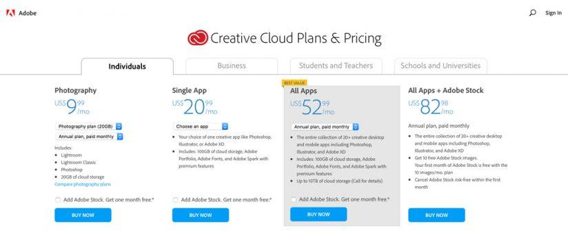 Adobe Clarifies New Pricing Structure For CC Photography Plan