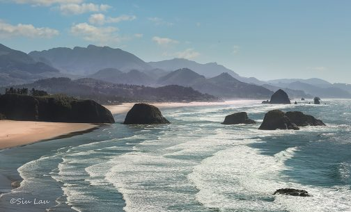 "Today's Photo Of The Day is ""Shallow Waves"" by Siu Lau. Location: Cannon Beach, Oregon."