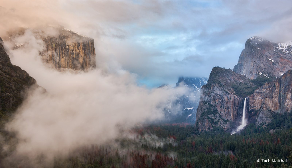 """Today's Photo Of The Day is """"Tunnel View"""" by Zach Matthai. Location: Yosemite National Park, California."""