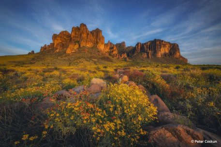 "Today's Photo Of The Day is ""Gold Rush"" by Peter Coskun. Location: Superstition Mountains, Arizona."