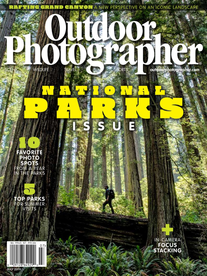 outdoor photographer cover july 2019 photo by jonathan irish