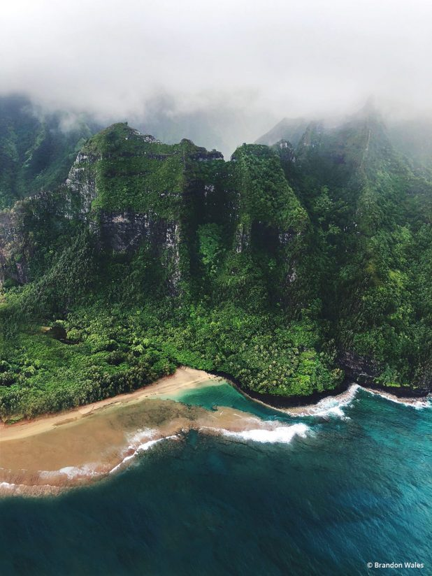 "Today's Photo Of The Day is ""North Kauai Coastline"" by Brandon Wales. Location: Hawaii."