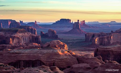 "Today's Photo Of The Day is ""First Light At Hunt's Mesa"" by Daniel Plumer. Location: Navajo County, Arizona."