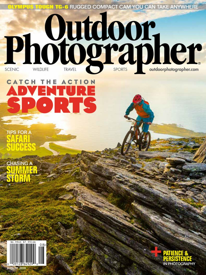 outdoor photographer cover august 2019 photo by grant gunderson