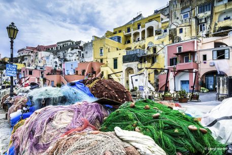 "Today's Photo Of The Day is ""Fishing Nets Italian Harbor"" by Daryl Hunter. Location: Procida, Italy."
