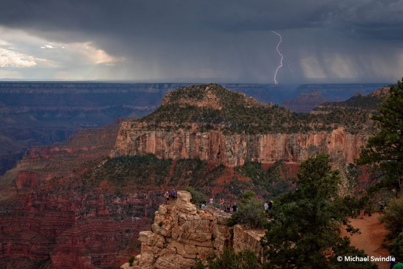 "Today's Photo Of The Day is ""Storm Watching"" by Michael Swindle. Location: Grand Canyon National Park's North Rim, Arizona."