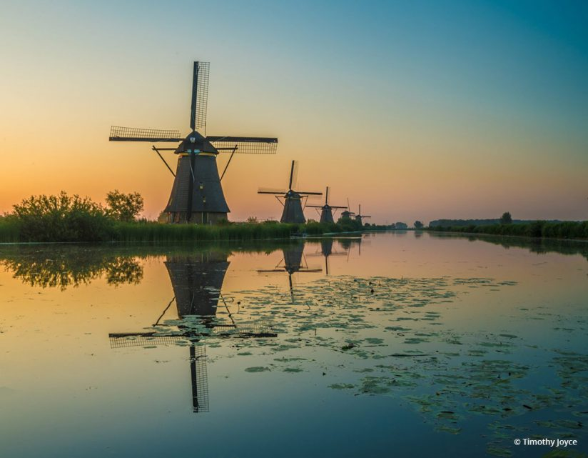 "Today's Photo Of The Day is ""Fabulous Sunrise at Kinderdijk"" by Timothy Joyce. Location: South Holland."