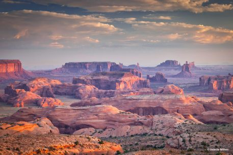 """Today's Photo Of The Day is """"Sunrise Hunt's Mesa"""" by Valerie Millett. Location: Monument Valley, Arizona."""