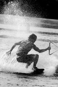 "Congratulations to Linn Smith for winning the recent Summer Sports Action Assignment with the image, ""Wakeboarding."""