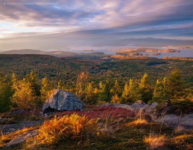 "Today's Photo Of The Day is ""Sundown atop Mount Major"" by Harry Lichtman. Location: Alton Bay, New Hampshire."