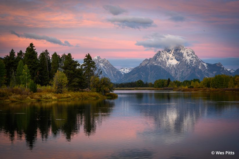 Sunrise image taken at Oxbow Bend with the NIKKOR Z 24-70mm f/2.8 S
