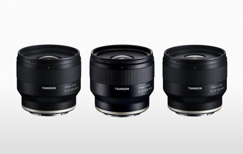 Photo of Tamron 20mm prime, Tamron 24mm prime and Tamron 35mm prime
