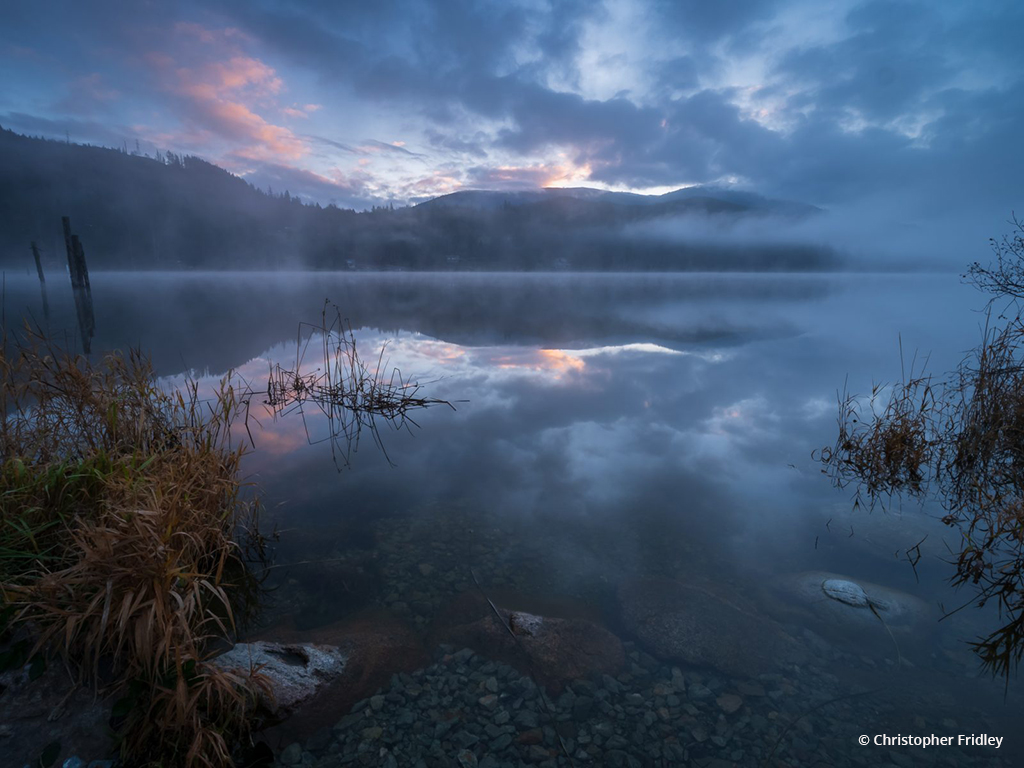 """Today's Photo Of The Day is """"Clear Lake Twilight"""" by Christopher Fridley. Location: Skagit County, Washington."""