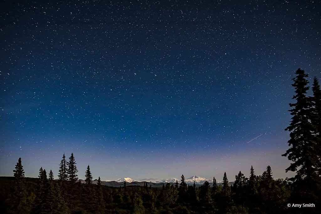 """Today's Photo Of The Day is """"Denali in the Moonlight"""" by Amy Smith. Location: Denali National Park, Alaska."""