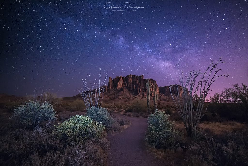 "Today's Photo Of The Day is ""Superstition Galaxy"" by Gerry Groeber. Location: Superstition Mountains Arizona."
