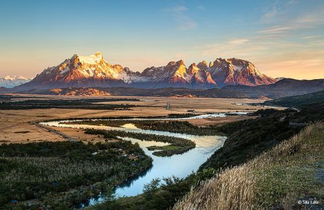 "Today's Photo Of The Day is ""Sunrise at Torres del Paine"" by Siu Lau. Location: Chile."