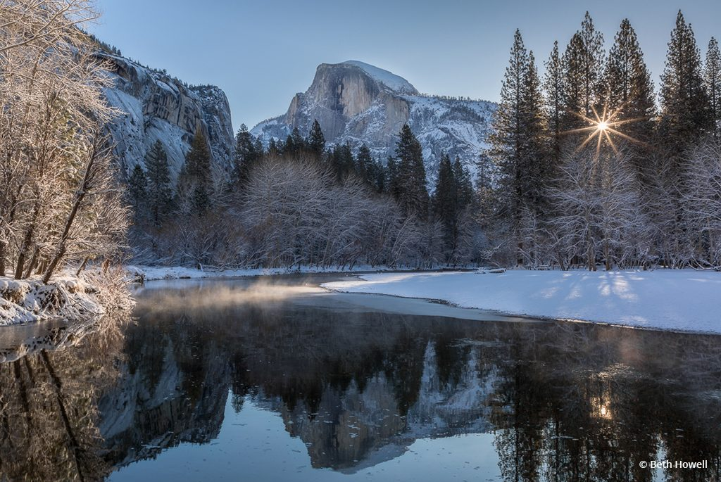 "Today's Photo Of The Day is ""Winter Morning at Half Dome"" by Beth Howell. Location: Yosemite National Park, California."