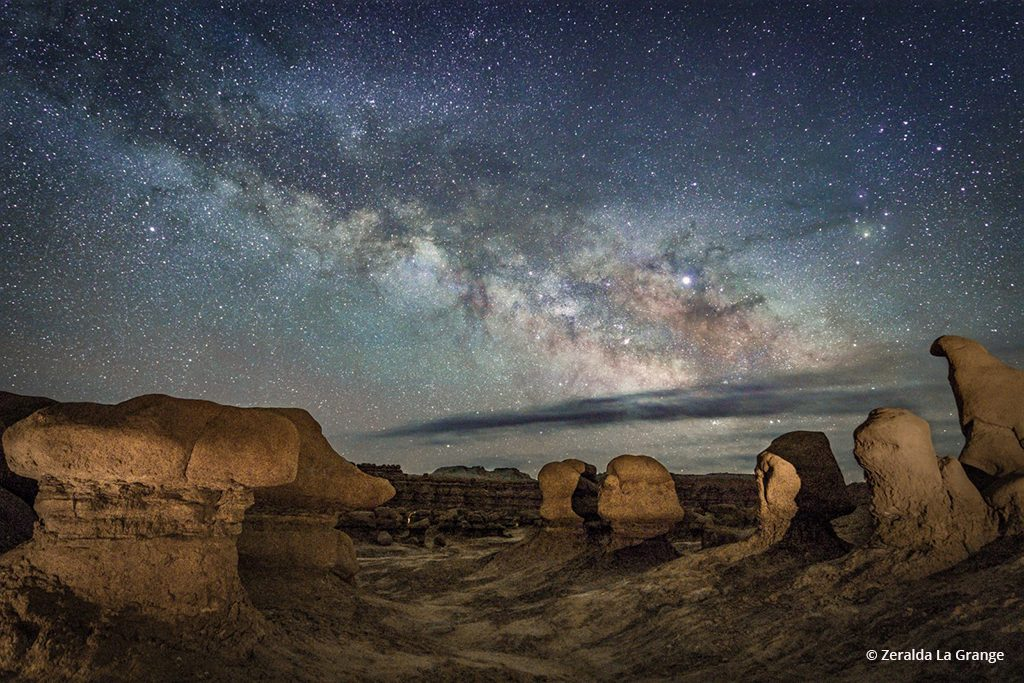 """Today's Photo Of The Day is """"Cloudy Milky Way"""" by Zeralda La Grange. Location: Goblin Valley State Park, Emery County, Utah."""