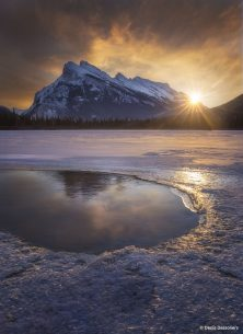 "Today's Photo Of The Day is ""Light On"" by Denis Dessoliers. Location: Vermilion Lake, Banff, Alberta."