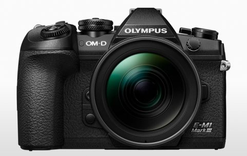 Front of the Olympus OM-D E-M1 III camera