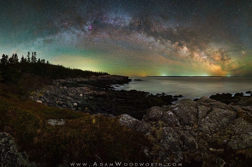 Milky Way Over the Coast of Maine