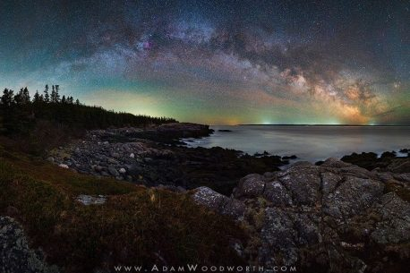 Milky Way Panorama On The Coast Of Maine