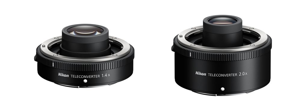 Image of the teleconverters for the Nikon Z camera system.