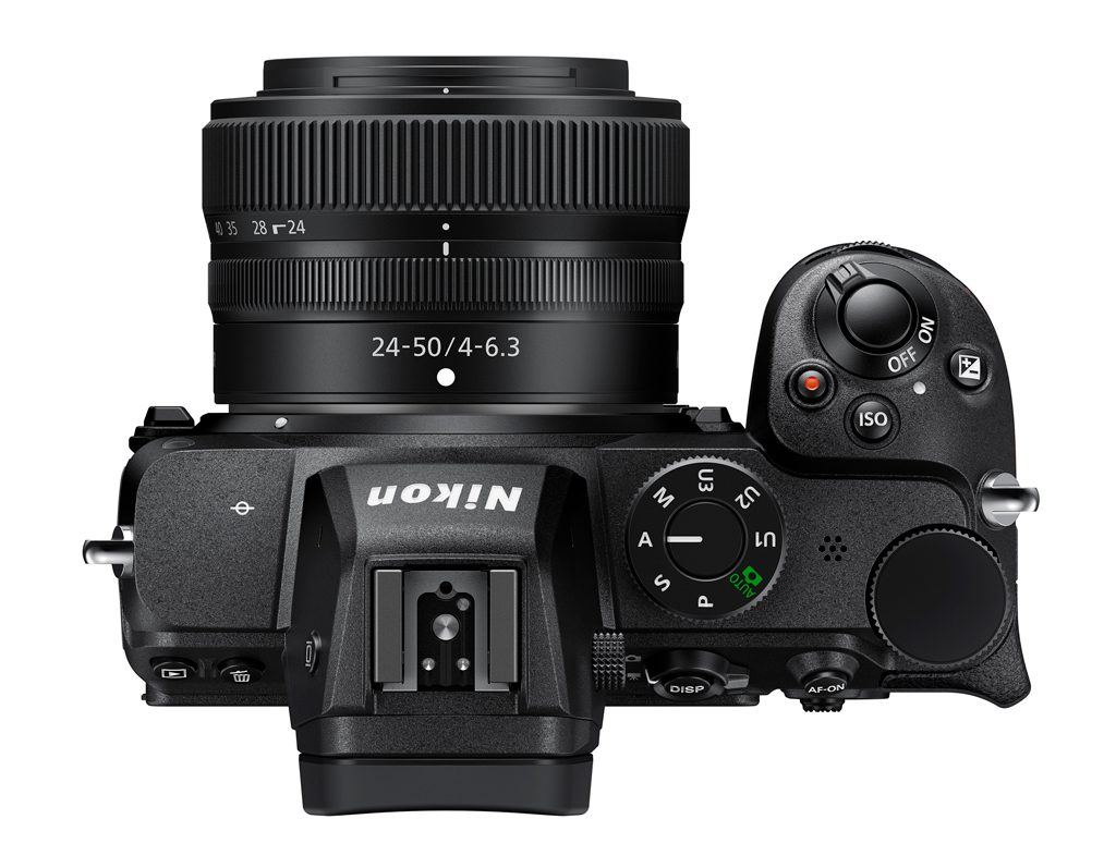 Image of the top view of the Nikon Z 5