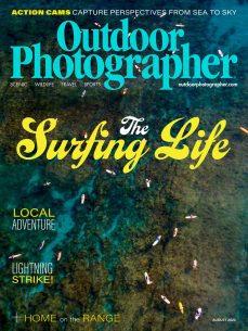 cover of the August 2020 issue of Outdoor Photographer