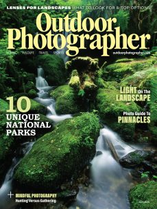 image of the cover of the July 2020 issue of Outdoor Photographer