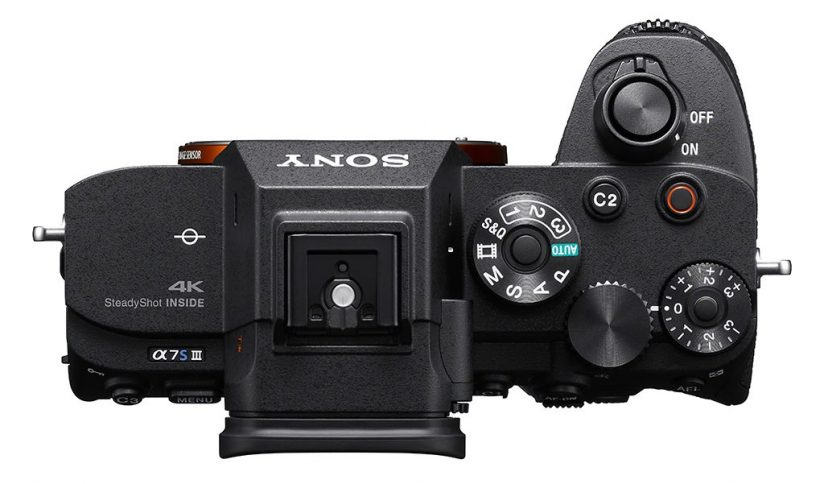 Image of the top of the Sony a7S III